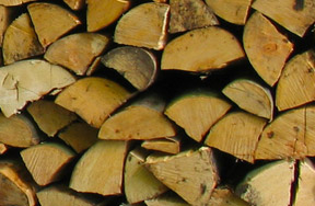 pile bois de chauffage